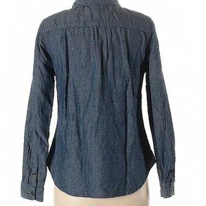 Toms Tops - Toms for Target Womens Chambray Shirt XL Polka Dot